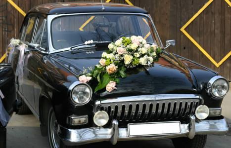 déco fleurs voiture