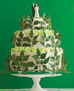 gateau-mariage-vert-blanc--flickr-shopgirl78