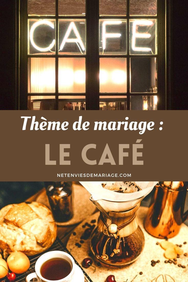 Thème mariage café